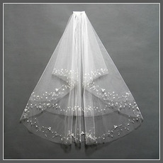 Chic Z grzebieniami Crimps Rozmiar może być dostosowany Biały welon ślubny