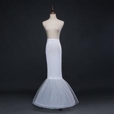 Ślub Petticoat Frameless Mermaid Spandex Elastyczna talia Pełna sukienka