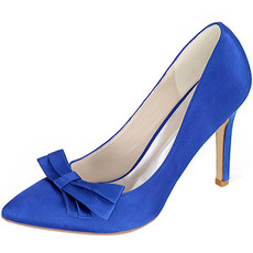 Satynowa kokardka na szpilkach buty księżniczki buty ślubne