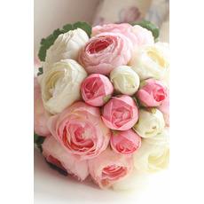 Diamentowa perła prosta atmosfera bukiet kwiatów matron honorowych