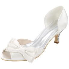 Buty ślubne plus size pojedyncze buty kokardki satynowe sandały na przyjęcie