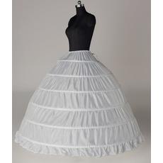Ślubne Petticoat Sześć obręczy Expand String Width Full dress Adjustable
