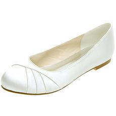 Płaskie plisowane satynowe buty damskie buty na bankiet doroczne spotkanie buty ślubne