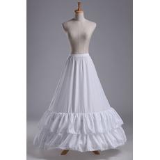 Wedding Petticoat Lace przycinanie Suknia ślubna Long Polyester tafta