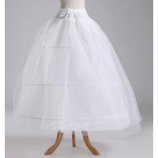 Ślubny Petticoat Szerokość Pełna sukienka Elegancki Trzy obręcze Tafta poliestrowa