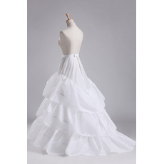Ślubne Petticoat Trzy obręcze Pełna sukienka Średnica Elegancki Poliester tafta