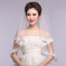 Ślubna zasłona koronkowa Wiosenna ceremonia koronkowa tkaniny