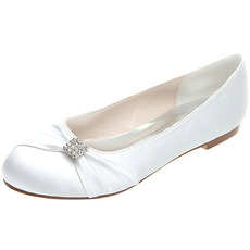 Płaskie buty satynowe buty ślubne ciążowe ślubne plus size płaskie buty