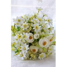 Zielone i białe kwiaty herbata kwiaty bukiet brides poślubił symulacji