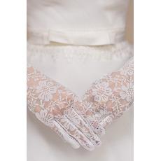 Rękawiczki ślubne Krótka Wieczna Wielowarstwowa Koronka
