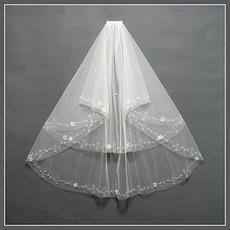 Ślubna zasłona Wielowarstwowa perła ozdobna Elegancka wiosna
