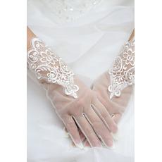 Ślubne Rękawiczki Tkanina Koronki Malująca Dekoracja Koronkowa