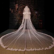 Duży welon z koronki zwisającej welon ślubny długi welon ślubny