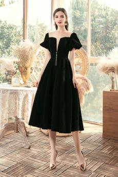 Naturalne talii Średni Długość do kolan Krótki rękaw Sukienka wieczorowe
