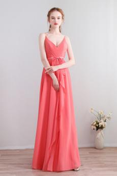 Długość do podłogi Elegancki Plisowane Średni Sukienka dla Druhen