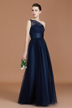 Średni Elegancki Na suwak Jesień Linia A Sukienka dla Druhen
