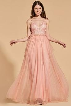 Bez pleców V serek Lato Naturalne talii Sukienka na studniówkę