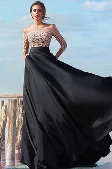 Koronka Dziurka Koronki Linia A Naturalne talii Sukienka wieczorowe