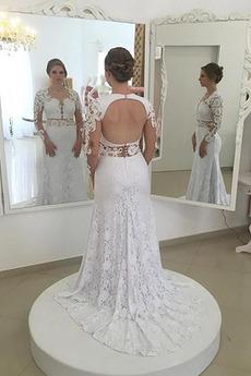 Koronka Naturalne talii Nasuwki złudzenia Panienki Sukienka ślubne