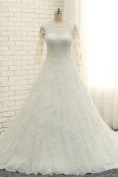 Koronki Naturalne talii Sama z powrotem Rosy ramię Sukienka ślubne