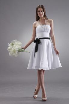 Bez ramiączek Połowy pleców Huśtawka Tiul nakładki Sukienka dla Druhen