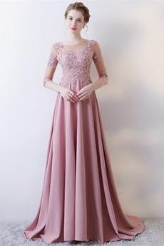 Długi Koronki nakładki Nasuwki złudzenia Sukienka wieczorowe