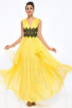 Bez pleców Elegancki Wiosna Naturalne talii Sukienka wieczorowe