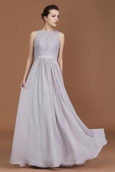 Naturalne talii Klejnot Elegancki Linia A Sukienka dla Druhen