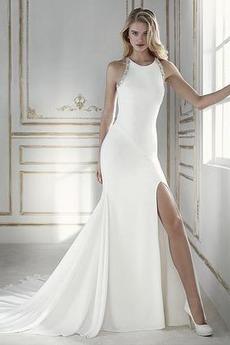 Syrena Długi Szczeliny przedniego Przodu Split Sukienka ślubne