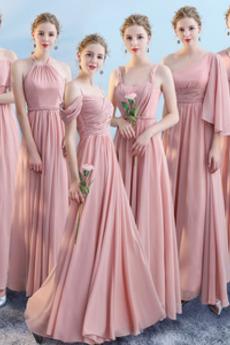 Linia A Trójkąt plecionka Harmonijkowe gorset Sukienka dla Druhen