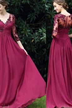 V-dekolt Linia A Nasuwki złudzenia Naturalne talii Sukienka wieczorowe