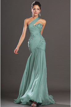 Glamour Szyfon Bez rękawów Jasny niebieski Spódnica wieczorowe