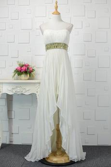 Elegancki Sznurowane Zroszony pasów Bez ramiączek Sukienka wieczorowe