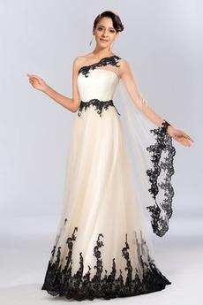 Tiul Połowy pleców Długość kostki Linia A Sukienka wieczorowe