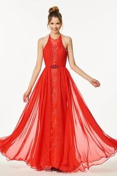 Bez rękawów Naturalne talii Elegancki Sukienka na studniówkę