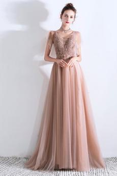 Romantyczny Linia A Wiosna Tiul Klepsydra Sukienka wieczorowe