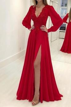 Bez pleców Elegancki Długość do podłogi Wydajność Sukienka wieczorowe