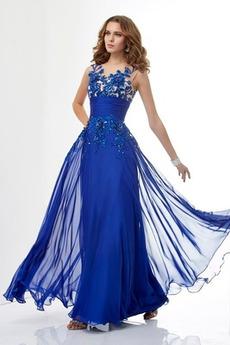 Średni Bez rękawów Elegancki Linia A Przyjęcie Sukienka wieczorowe