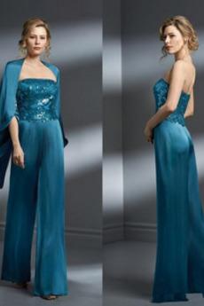 Koronki Długość kostki Koronka Elegancki Z spodnie Sukienka matki