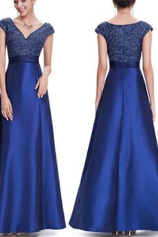 Naturalne talii V-dekolt Cekinowe gorset Sukienka wieczorowe