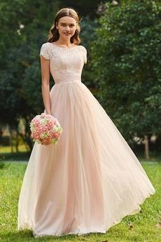 Koronka Panienki Linia A Naturalne talii Sukienka dla Druhen