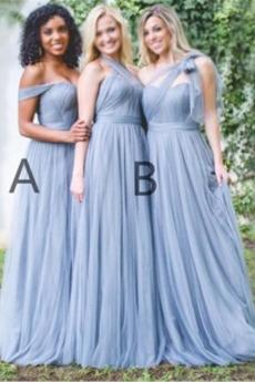 Tiul Linia A Akcentowane łuk Średni Elegancki Sukienka dla Druhen