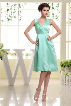 Nieformalne Plisowane Długość do kolan Średni Sukienka dla Druhen