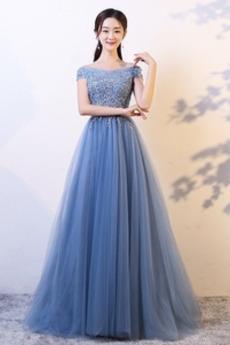 730e6b10be Sznurowane Krótki rękaw Frezowanie Wydajność Sukienka wieczorowe
