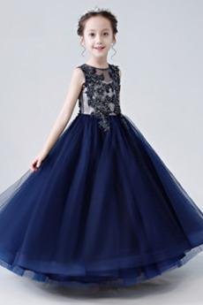 Linia A Naturalne talii Długość kostki Lato Wydajność Dzieci sukienka