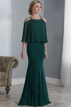 Długi Panienki Dew ramię Formalny Luźne rękawy Sukienka matki