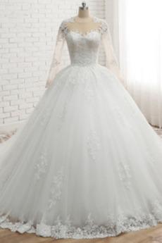Klasyczny Klepsydra Dziurka Kaplicy pociągu Sukienka ślubne