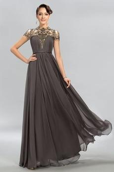 Linia A Elegancki Wysokiej szyję Przyjęcie Sukienka wieczorowe