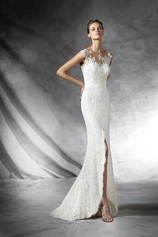 Ogród Latem Naturalne talii Seksowny Syrena Sukienka ślubne
