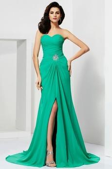 Bez ramiączek Linia A Piłka Naturalne talii Sukienka wieczorowe